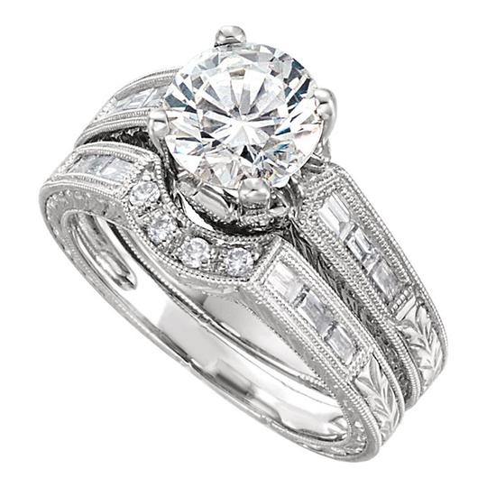 Preload https://img-static.tradesy.com/item/26659972/white-155-ct-ladies-round-and-baguette-set-engagement-ring-0-0-540-540.jpg