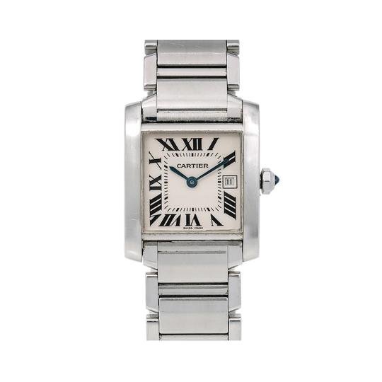 Preload https://img-static.tradesy.com/item/26660097/cartier-white-tank-francaise-w51011q3-25-x-31-mm-dial-with-stainless-s-watch-0-0-540-540.jpg