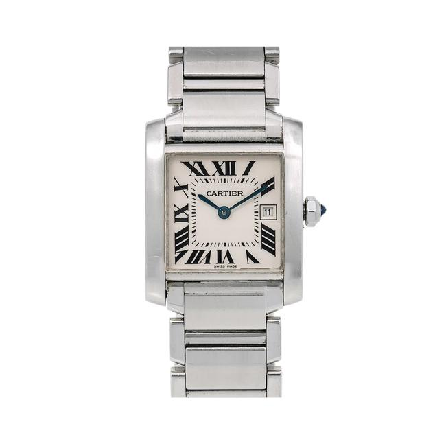 Cartier White Tank Française W51011q3 25 X 31 Mm Dial with Stainless S Watch Cartier White Tank Française W51011q3 25 X 31 Mm Dial with Stainless S Watch Image 1