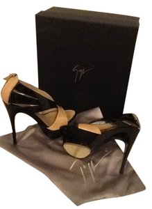 Giuseppe Zanotti Black and Blush Sandals