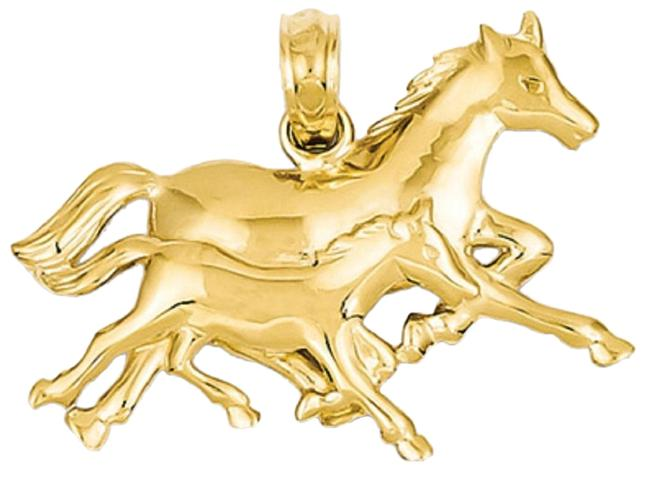 Apples of Gold Horse and Foal Pendant In 14k Necklace Apples of Gold Horse and Foal Pendant In 14k Necklace Image 1
