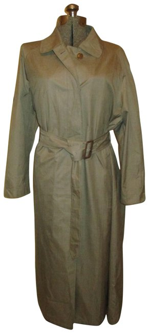 Item - Khaki/Green Belted Light Weight Coat Size 16 (XL, Plus 0x)