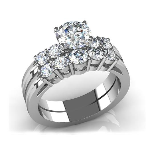 Preload https://img-static.tradesy.com/item/26660415/white-165-ct-round-five-stone-engagement-with-matching-wed-ring-0-0-540-540.jpg
