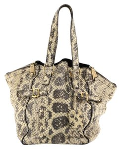 Saint Laurent Exotic Python Tote in Neutral