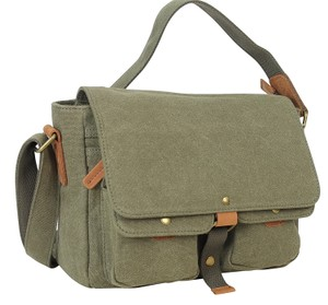 Vintage Cotton Canvas Classic Canvas Messenger Bag CM09.GRY