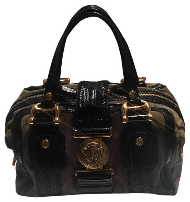 Gucci Leather and Suede Satchel Gucci Leather and Suede Satchel Image 1