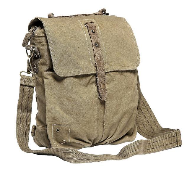 Vagarant Shoulder Tall Casual C56 Military Green Canvas Messenger Bag Vagarant Shoulder Tall Casual C56 Military Green Canvas Messenger Bag Image 1