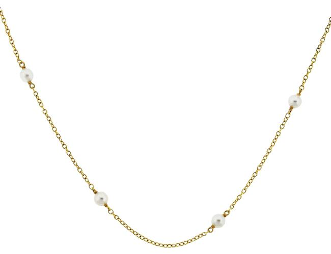 Item - 18k Yellow Gold Vintage Peretti Pearl Choker Necklace