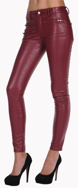 Item - Maroon Faux Leather Pants Size 4 (S, 27)