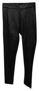 Avenue Montaigne Faux Leather Tapered Slim Sexy Skinny Pants black