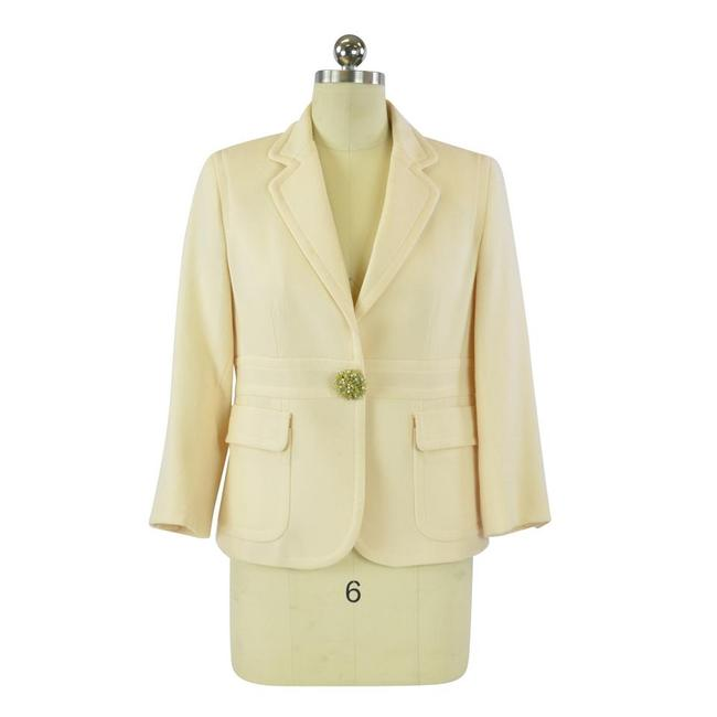 Item - Cream Jeweled Button Blazer Size 8 (M)