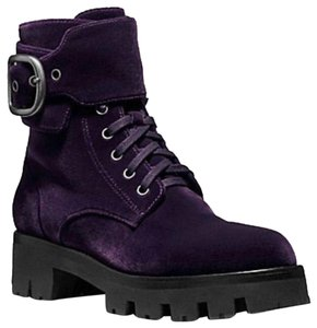 Coach Dark Purple Boots