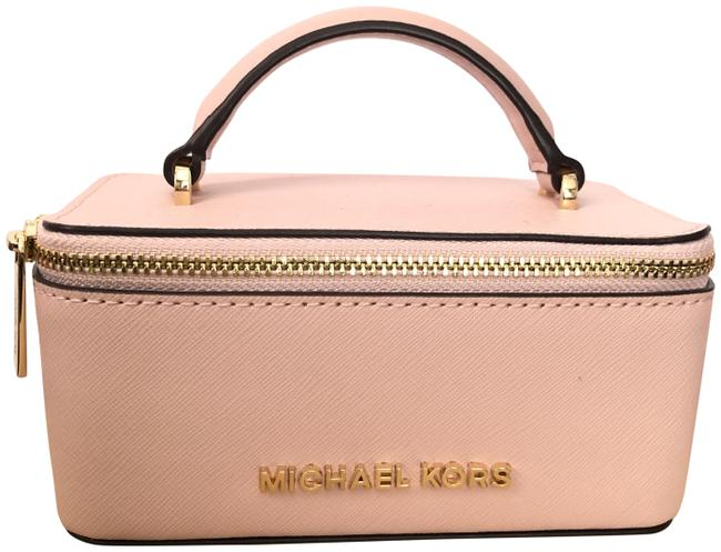 Item - Giftables Medium Top Handle Jewelry Case Pink Saffiano Leather Weekend/Travel Bag