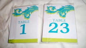 Zazzle Lime and Turquoise Table Numbers Reception Decoration