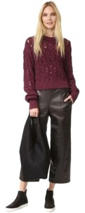 Public School Cable Knit Burgundy Chunky Sweater