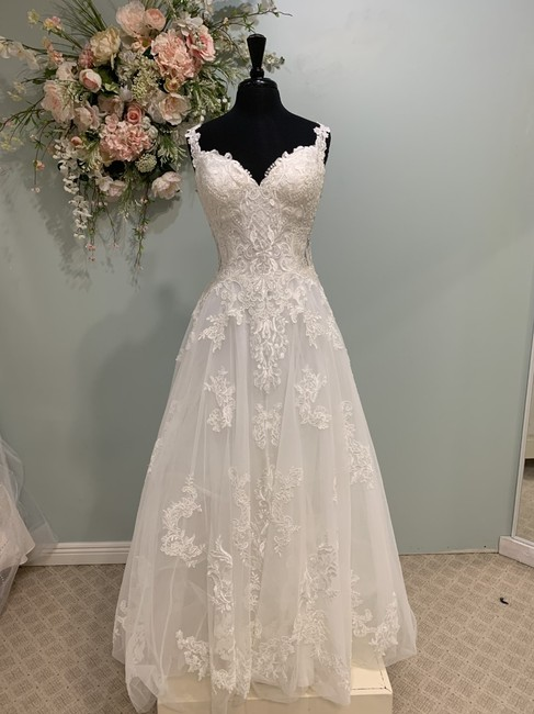 Mori Lee Ivory Lace/Tulle 2020 Traditional Wedding Dress Size 10 (M) Mori Lee Ivory Lace/Tulle 2020 Traditional Wedding Dress Size 10 (M) Image 1