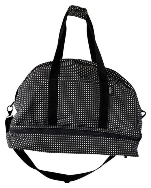 """Item - Saturday """"The Small Weekender"""" Black and White Canvas Weekend/Travel Bag"""