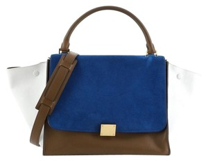 Celine Trapeze Suede Leather Travel Bag