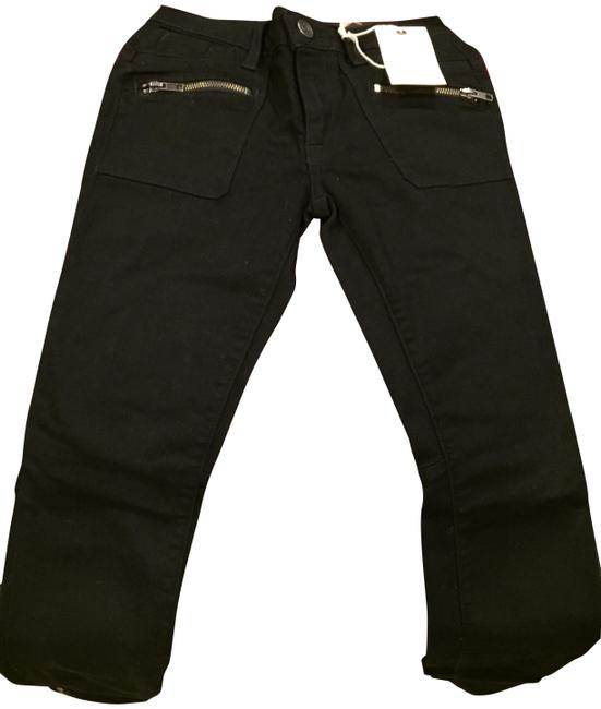 Item - Black Dark Rinse The Moto Zipper Skinny Jeans Size 24 (0, XS)