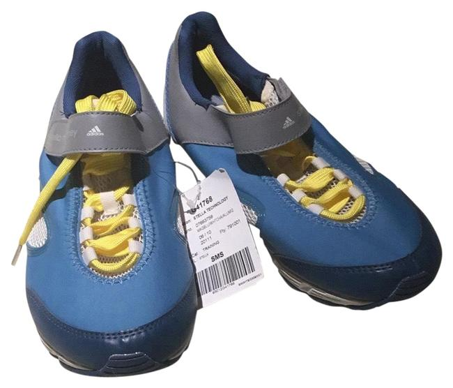 Item - Blue Grey and Yellow Laces Training Sneakers Size US 7 Regular (M, B)