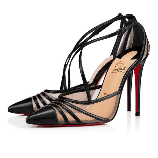 Preload https://img-static.tradesy.com/item/26664946/christian-louboutin-black-theodorella-100-nude-mesh-cross-ankle-strap-stiletto-heel-pumps-size-eu-36-0-0-540-540.jpg
