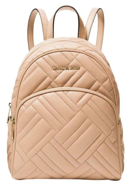 Item - Abbey Medium Quilted Oyster Beige Leather Backpack