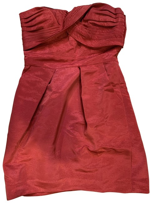 Item - Red Strapless Short Cocktail Dress Size 4 (S)