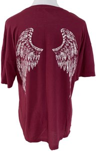 ADAPTATION Wing Sleeve Cotton T Shirt Red