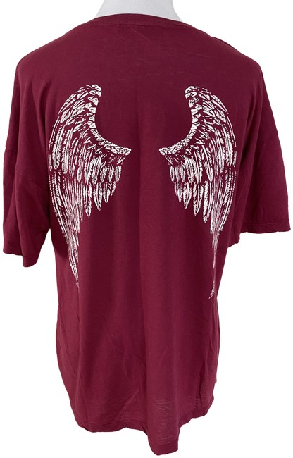 Item - Red City Of Angels Los Angeles Angel Wings Tee Shirt Size 12 (L)