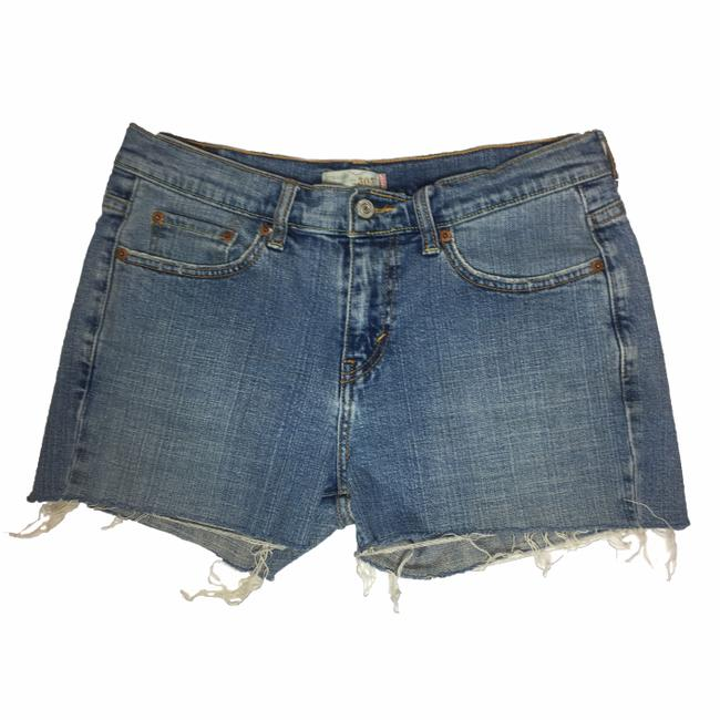 Item - Blue 505 High Waisted Cut Off Denim Shorts Size 8 (M, 29, 30)