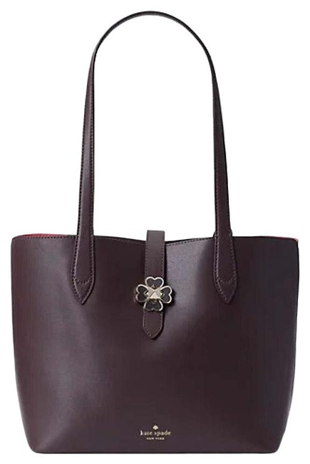 Item - Kaci Small Tote Chocolate Cherry Brown Leather Shoulder Bag