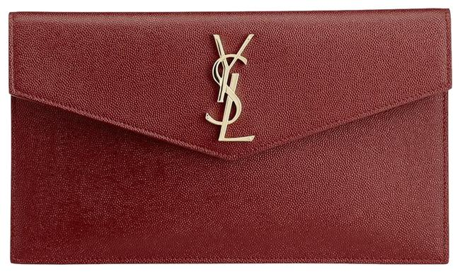 Item - Monogram Pouch Deep Red Leather Clutch