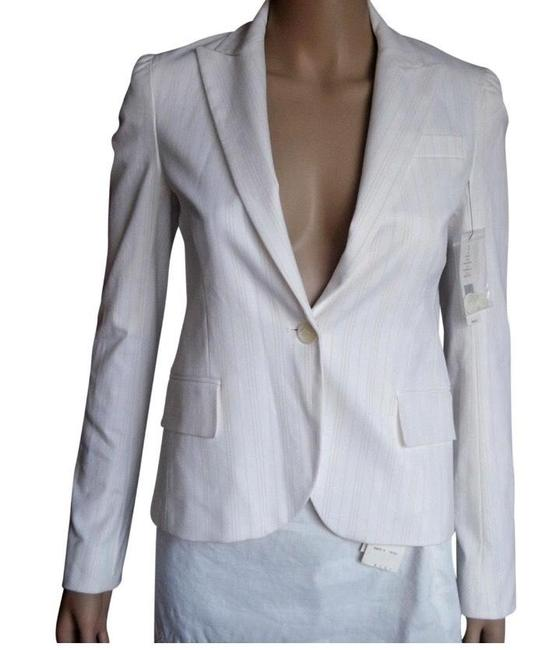 Item - Off White and Thin Beige Pinstripe Pacey Blazer Size 2 (XS)