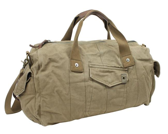 """Item - 20"""" Large Duffel C71 Military Green Canvas Weekend/Travel Bag"""