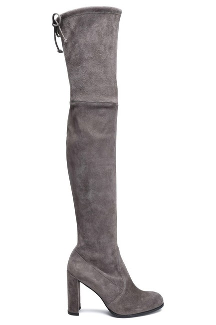 Item - Grey Suede Hiline Boots/Booties Size US 6.5 Wide (C, D)