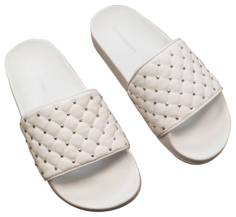 save off sale retailer pre order Steve Madden White Summer Slide Sandals Size US 7 Regular (M, B ...