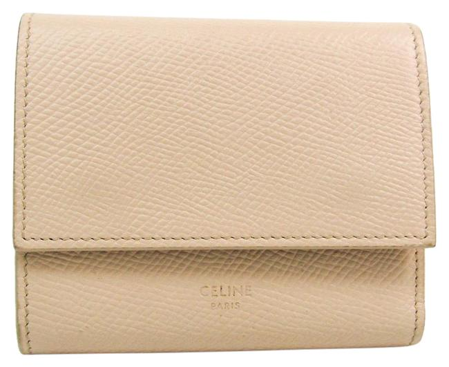 Item - Ivory Tri-Fold Small Trifold 10b573 Women's Embossed Calf Leather (Tri-fold) Cream Wallet