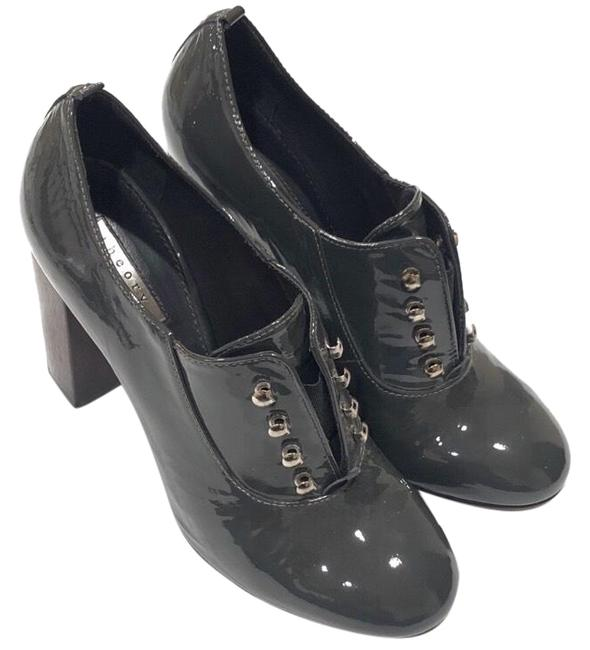 Item - Gray Nariko Patent Leather Bootie Pumps Size US 7 Regular (M, B)