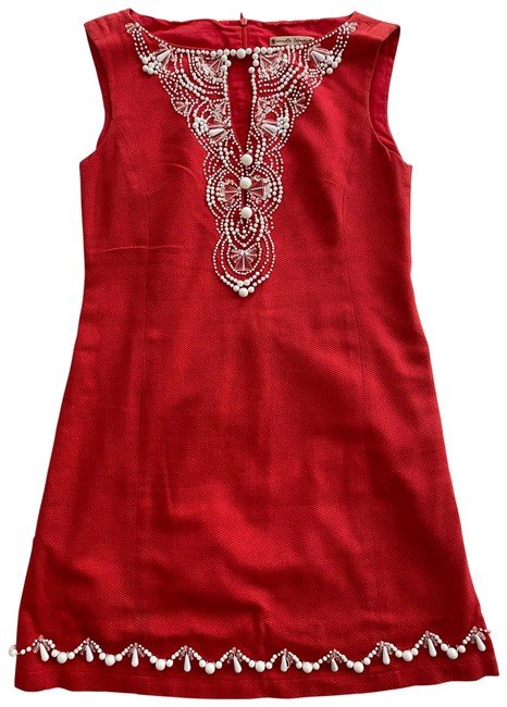 Item - Pink 104522 Mid-length Short Casual Dress Size 6 (S)