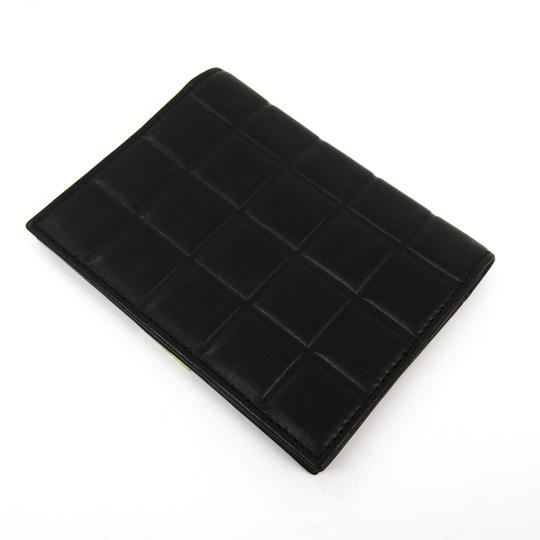 Chanel Black Bar Quilted Leather Card Holder Cover Image 1
