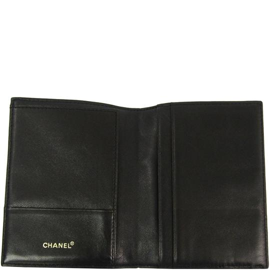 Chanel Black Bar Quilted Leather Card Holder Cover Image 2