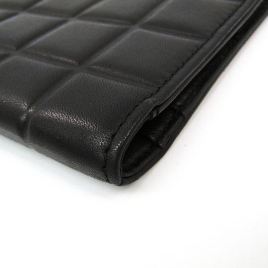 Chanel Black Bar Quilted Leather Card Holder Cover Image 3
