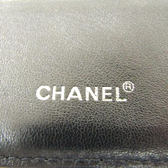 Chanel Black Bar Quilted Leather Card Holder Cover Image 7