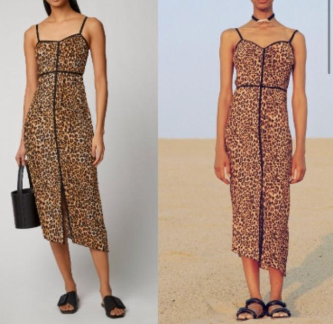 animal print with black piping Maxi Dress by Nanushka Image 5