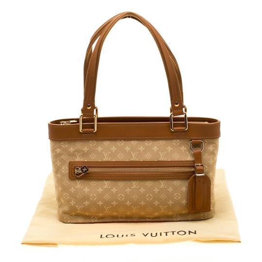 Louis Vuitton Leather Canvas Tote in Beige Image 11