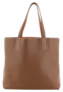 Hermès Leather Tote in Gold and Orange