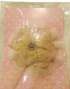 Miss Rose Sister Violet Vintage Ivory Lace Fabric Pin