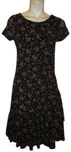 Lauren Jeans Company short dress black multi Lace Stretchy Floral Ruffled Onm001 on Tradesy