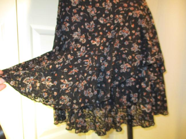 Lauren Jeans Company short dress black multi Lace Stretchy Floral Ruffled Onm001 on Tradesy Image 10