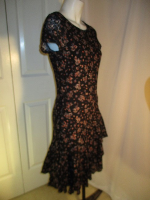 Lauren Jeans Company short dress black multi Lace Stretchy Floral Ruffled Onm001 on Tradesy Image 5